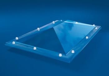 Acrylaat, 2-wandig, pyramidevorm  100X200