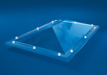 Polycarbonaat, 2-wandig, pc/pmma, pyramide